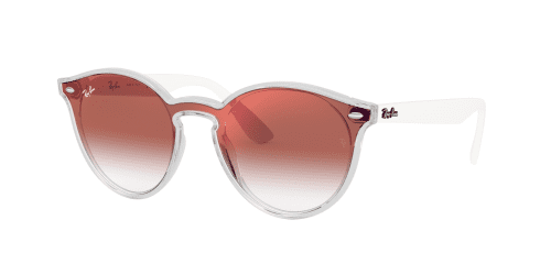 Ray-Ban BLAZE RB4380N RB 4380N 6357V0 Matte Transparent