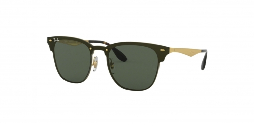 Ray-Ban BLAZE CLUBMASTER RB3576N RB 3576N 043/71 Brushed Gold