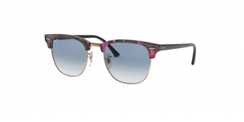 Ray-Ban Clubmaster RB3016 12573F Spotted Grey Violet