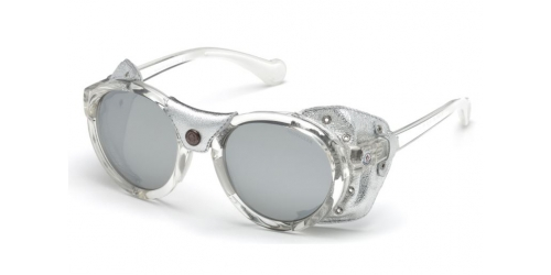 Moncler ML0046 26C Crystal/Smoke Mirror