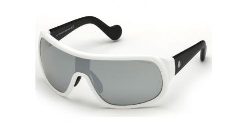 Moncler ML0048 SHIELD 23C White/Black/Smoke Mirror