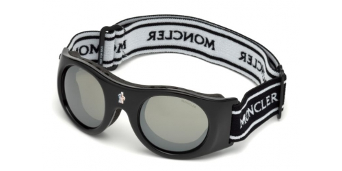 UNISEX GOGGLES ML0051 Mask UNISEX GOGGLES ML 0051 Mask 01C Shiny Black/Smoke Mirror