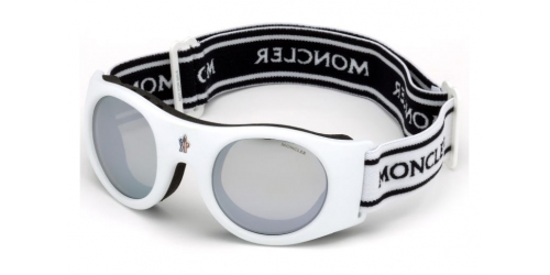 Moncler UNISEX GOGGLES ML0051 Mask 21C White/Smoke Mirror