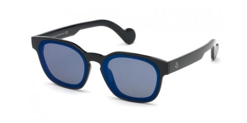 Moncler ML0086 01X Shiny Black/Blue Mirror