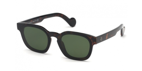 Moncler ML0086 52N Dark Havana/Green