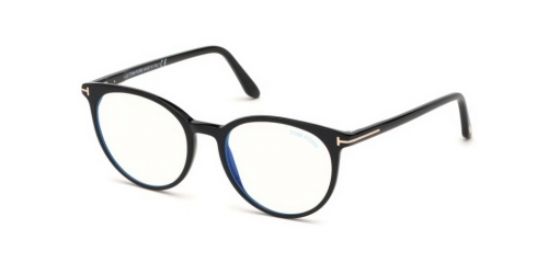 Tom Ford TF5575-B Blue Control TF 5575-B 001 Shiny Black