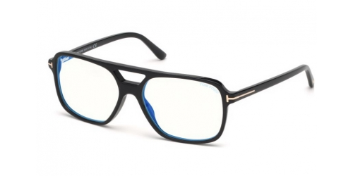 71f6ab12a8b Tom Ford TF5585-B Blue Control TF 5585-B 001 Shiny Black