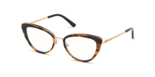 Tom Ford TF5580-B Blue Control TF 5580-B 056 Light Havana