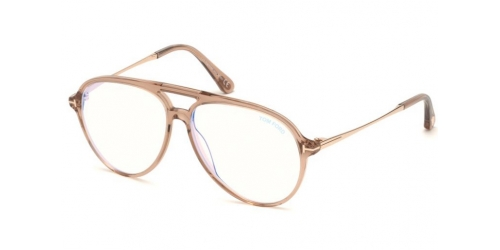 Tom Ford TF5586-B Blue Control TF 5586-B 057 Shiny Beige