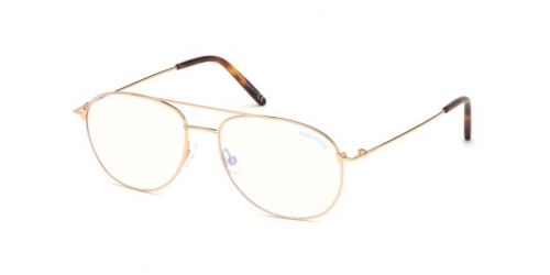Tom Ford TF5581-B Blue Control TF 5581-B 028 Shiny Rose Gold