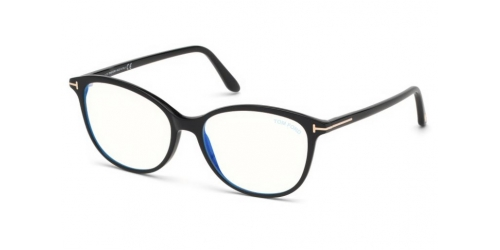 Tom Ford TF5576-B Blue Control TF 5576-B 001 Shiny Black