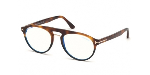 Tom Ford TF5587-B Blue Control TF 5587-B 053 Blonde Havana