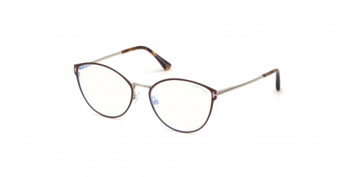 Tom Ford TF5573-B Blue Control TF 5573-B 069 Shiny Bordeaux