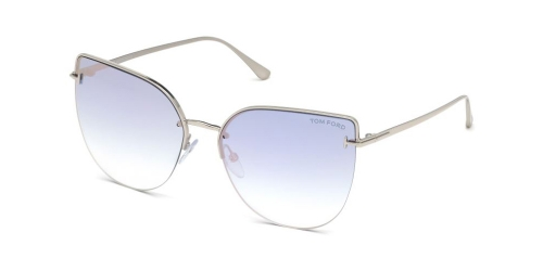 Tom Ford INGRID-02 TF0652 16Z Shiny Palladium