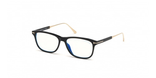 Tom Ford TF5589-B Blue Control TF 5589-B 001 Shiny Black