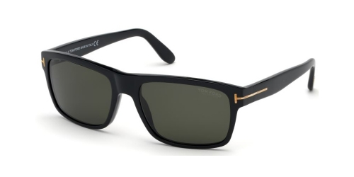 Tom Ford AUGUST TF0678 01D Shiny Black/Smoke Polarized