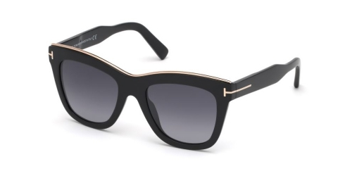 Tom Ford JULIE TF0685 01C Shiny Black/Smoke Mirror