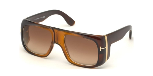 Tom Ford GINO TF0733 48F Shiny Dark Brown/Gradient Brown