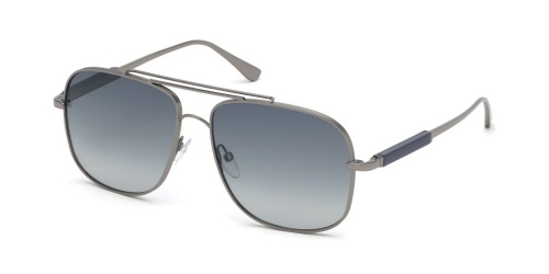 Tom Ford JUDE TF0669 12W Shiny Dark Ruthenium/Gradient Blue