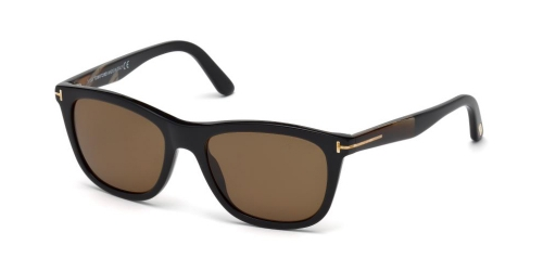 Tom Ford ANDREW TF0500/S TF 0500/S 01H Shiny Black/Brown Polarised