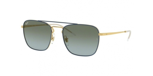 Ray-Ban RB3588 9062I7 Gold Top on Blue