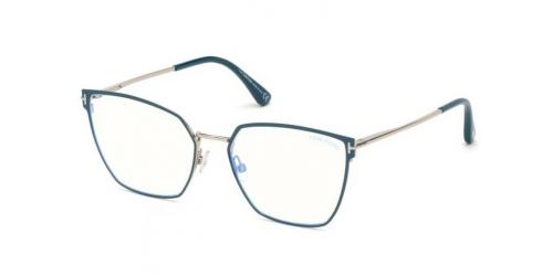 Tom Ford TF5574-B Blue Control TF 5574-B 079 Shiny Turquoise