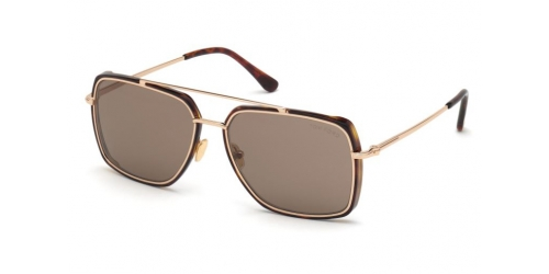 Tom Ford TF0750 52J Dark Havana / Roviex